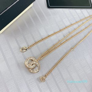 collana classica di vendita calda ottone francese Couture CZ lettera Cubic Zirconia catena del maglione delle donne collana di moda