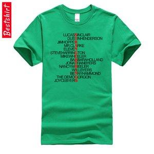 Listof Caracteres Extraño cosas la camiseta verde Carta Once Dustin Montauk estética personalizada camiseta de algodón hombre clásico