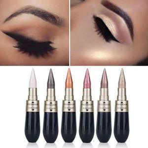 Black 2 In 1 Waterproof Liquid EyeShadow Eyeliner Pen Double-end Eye Liner Pencil Eye Shadow Combination Makeup Tool