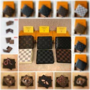 el envío 2020 nueva bolsa de L gratuito billetero de alta calidad de la tela escocesa de los hombres de las mujeres del modelo de cartera puros de gama alta s diseñador L billetera con cuadro