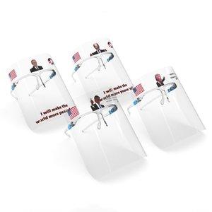 Trump Biden Masques transparent Face Shield avec des lunettes anti-buée Cadre poussière Splash Masques incolore Protection du visage réutilisable Couverture T500134