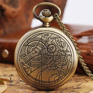 Lusso Doctor Who Theme quarzo Poctet della vigilanza per la collana Orologi Ciondolo in Quarzo Donne per uomini orologio creativo accessori da regalo