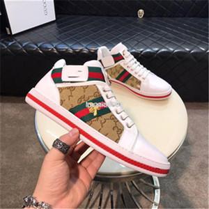 Gucci 2020 Hombre spor ayakkabısı erkekler şeffaf çift kanvas ayakkabılar