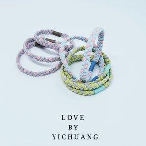 Nouveau style coréen ins double brin noué caoutchouc bande de coiffe élastique cheval tête corde cheveux coiffure anneau de cheveux élargie branchée acc