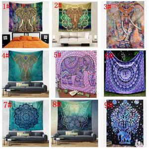 150 * 130 centímetros Tapestry Wall Hanging Mandala indiana Bohemian Tapestry Hippie tapeçaria poliéster Wall Decor dormitório Decor KKA4499