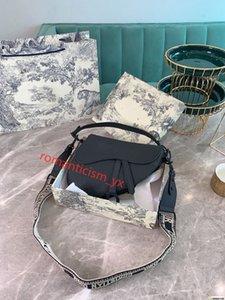 Dior Saddle bag Üst Gerçek Deri 25cm Eyer çanta üst kaliteli kadınları Crossbody çanta Designered omuz çantası çanta cüzdan debriyaj kılıf luxe