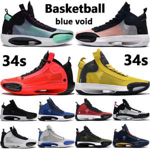 La nueva llegada 34s 34 jumpman zapatillas de baloncesto CNY real negro de infrarrojos 23 Tour Deporte gris Eclipse fresca amarilla hombres al aire libre las zapatillas de deporte