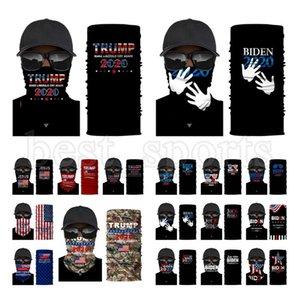 Trump Yüz Maskesi 2020 ABD Bayrağı Koruyucu Maske Açık Bisiklet Magic Eşarp Bandana Kafa Başkanı Trump Biden Seçim Maskeleri CYZ2723