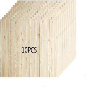 10pcs 70*70cm 3D wallpaper wall paper PE foam and tasteless self-adhesive DIY panel wood grain wall stickers bedroom living room