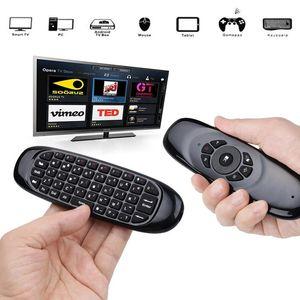 C120 retroiluminado Air Mouse Gyro Sensor Inglês russo sem fio 2.4G RF teclado remoto para controle Gaming Android Smart TV Box