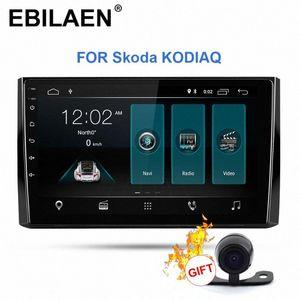 Rádio EBILAEN Car Multimedia Player Para Kodiaq 1DIN Android 9.0 Autoradio GPS Navigation DVD Cassete Stereo DVD player do carro Mobile DVD DBho #