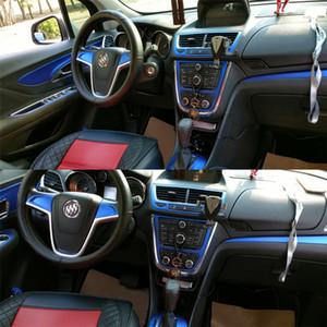 Carbon Fiber Car-Styling Interno di automobile Center Console cambiano colore stampaggio decalcomanie per Buick Encore Opel Vauxhall MOKKA