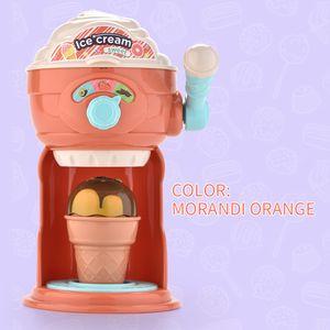 Divertido para hacer helado Los juegos de simulación del juguete de DIY de cocina Máquina de dibujos animados educativos para niños juguetes lindos interesantes de rol de chicas regalos
