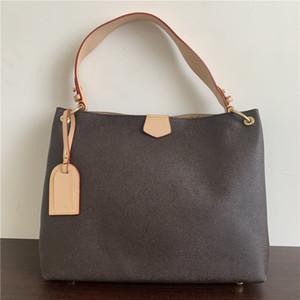 M43704 M43703 2020 حقائب جلدية أزياء كلاسيكية نساء الكتف حقيبة امرأة واحدة مقبض حمل أكياس التسوق 39x12x34cm