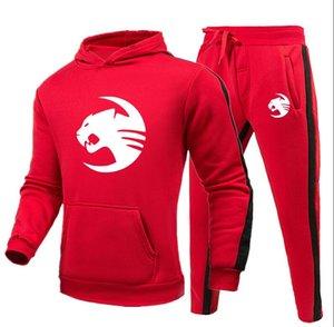 정장 힙합 스포츠 디자이너 운동복 남성 표범 럭셔리 땀 정장 가을 브랜드 남성 조깅 정장 재킷 + 바지 세트는 높은 품질을 설정합니다