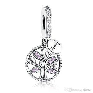 Family Tree Charms Beads Cubic Zircon Pendant fit Bracelet Necklace Bangle bracelets necklaces Women womens Jewelry cheap price
