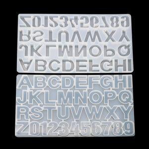 10 2bj C2 주조 DIY의 영숫자 형 알파벳 금형 베이킹 도구 퐁당 금형 쿠키 디저트 케이크 장식 용품 초콜릿