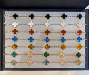 S925 pulsera de plata pura Cinco flores con la naturaleza malchite verde y diamantes COLVER para las mujeres de la boda PS6289A regalo de la joyería