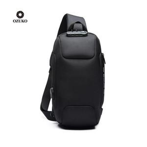 OZUKO 2020 Новый многофункциональный Crossbody сумка для мужчин Противоугонная плеча сумки Мужской Водонепроницаемая Короткие поездки Грудь сумка 1шт