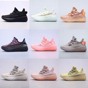 Высочайшее качество Kanye West v2 Дети мужчины женщины кроссовки Eliada Абези Азриэл Исрафил Tail Light Шлак Светоотражающие Черный статический Спортивные кроссовки