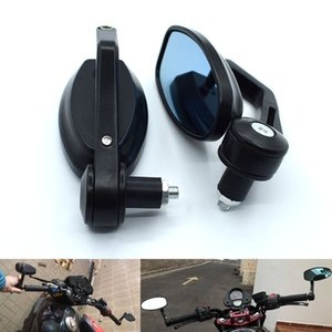 "Universal 7 8"" 22mm Motorcycle Mirrors Rear View Handle Bar End Rearview Side Mirrors Oval For HONDA CBR900RR VTX130 NC700 CB110"