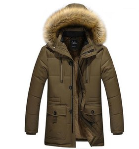 Thick Coats Hooded Fleece Anti Casual Coat Jacket Mens Winter Down Jackets Designer