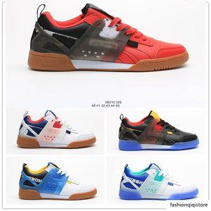 INSTAPUMP FÚRIA OG Mens Low Running Shoes Preto Branco Vermelho Azul Sports Casual sapatos malha de superfície Sneakers Tamanho 40-45