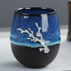 Copa taza de té de Pu'er de la vendimia Recipientes Accesorios Dragón y Phoenix taza de té hecho a mano de la taza de té de Kungfu Maestro Accesorios Teaware