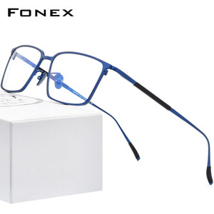 FONEX Pure Titanium Eyeglasses Men Square Eyewear 2020 New Male Classic Optical Myopia Prescription Glasses Frames 8535