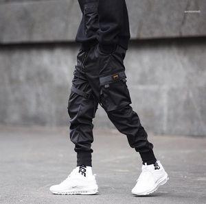 Été Trendy Pantalons Adolescent Crayon Pantalons Hommes Pantalons Functional Tactical Tooling Pantalons simple Jogger printemps