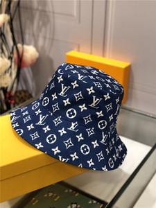 marca de moda de alta qualidade Bucket Chapéus para mulheres Homens dobro tomou Pesca Hop Cap Chapéu de Sol Verão Sunscreen Fisherman Panamá reversível Hip