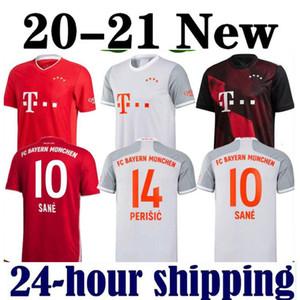 20 21 SANE 10 LEWANDOWSKI Bayern de Munique Gnabry jérsei de futebol 2020 2021 camisa 120 shirt do futebol uniforme conjunto NIANZOU 23 MUNCHEN Men + KIDS