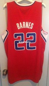 Por atacado baratos Matt Barnes Jersey Homens Sewn Red AD # 22 T-shirt colete camisola costurado Basquetebol