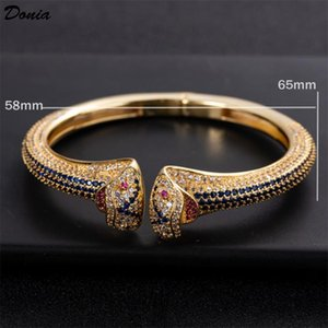 Donia jewelry fashion exaggeration European and American Animal copper bracelet with zirconia jewelry adjustable opening Bracelet