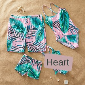 JfAbL 2019 madre bikini y la hija del padre e hijo Familia padre-hijo de cuatro piezas nadar bikini traje de cuatro piezas traje