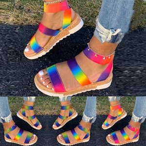 Colorful Beach women sandals Shoes Summer Open Toe Thick Bottom Flat Flip Flops Weaving Slippers Beach Shoes sandalias mujer
