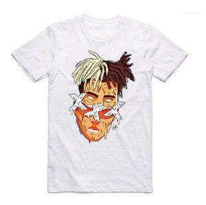 Sleeved Sommer Tops Herren Weiß Modal-T-Shirts XXTENTACION Designer Rapper T-Shirt Kurz