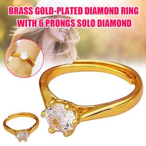 Bague Cercle d'or Finger Hoop Bijoux réglable 6 cadeau pour les femmes de mariage FS99