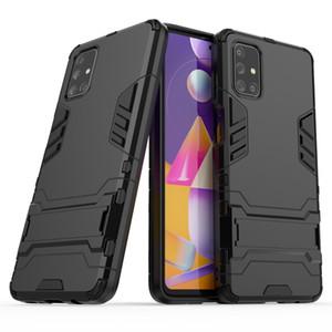 cubierta híbrida pie de apoyo antichoque Defensor de la armadura del TPU + PC para Samsung Galaxy S8 S8 S9 PLUS PLUS NOTA 8 nota 9 50pc