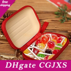 Christmas Coin Purse Candy Box Cartoon Tinplate Square Bag Headset Data Line Business Card Storage Box Brushed Printing Square