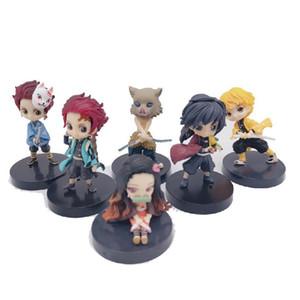 Demon Slayer Kimetsu No Yaiba Anime del PVC in piccola scala Action Figures Giocattoli Anime Garage Kit Giocattoli per i regali di Figurine Meccani
