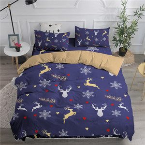 ZEIMON Merry Christmas Bedding Set Deer Printing Duvet Cover 3D For Home Textiles 2 3pcs Adults Luxury Bedclothes