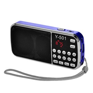 Y-501 FM Radio Portable Digital Audio Music Player Speaker LED Support TF CardBX 100% New Brand High Quality