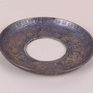 Chinese Antique Collection Brass Sculpture Disc ZJ125