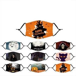 Factory Outlet Halloween Maske Designer Gesichtsmasken waschbar atmungsaktive Maske Masken erwachsenes Kind anpassen Schädel Allgleiches Maske