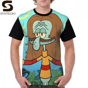 Squidward T Shirt Kelpy G T-Shirt Mens 100 Percent Polyester Graphic Tee Shirt Short-Sleeve Beach Cute 5x Graphic Tshirt 0924