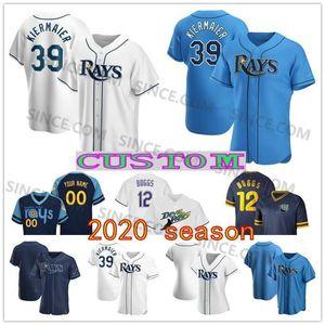Individuelle 2020 Tampa Bay Baseball Jersey Ray 39 Kevin Kiermaier 11 Hunter Renfroe 2 Yandy Diaz 25 Yoshitomo Tsutsugo Jose Martinez Wade Boggs