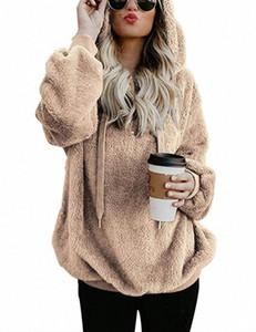 Glaforny Unique Природа женщин Sherpa свитер Корейский пуловер Fuzzy руно Outwear пуловер Женщины Одежда Уличная Весна Топы XwdJ #