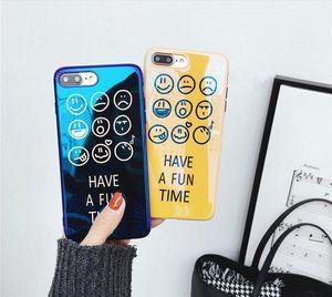 Blu-Ray Smiley Tide Shell Iphone8 Anti -Drop Téléphone Mobile Shell Iphonex