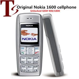 تجديد الأصل نوكيا 1600 الهاتف رخيصة الهاتف الخليوي 1.4 بوصة مزدوجة الفرقة GSM مقفلة الهاتف GSM 900/1800 الهاتف المحمول